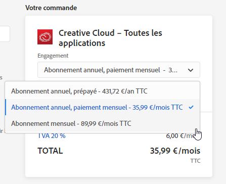 Une belle promotion Creative Cloud