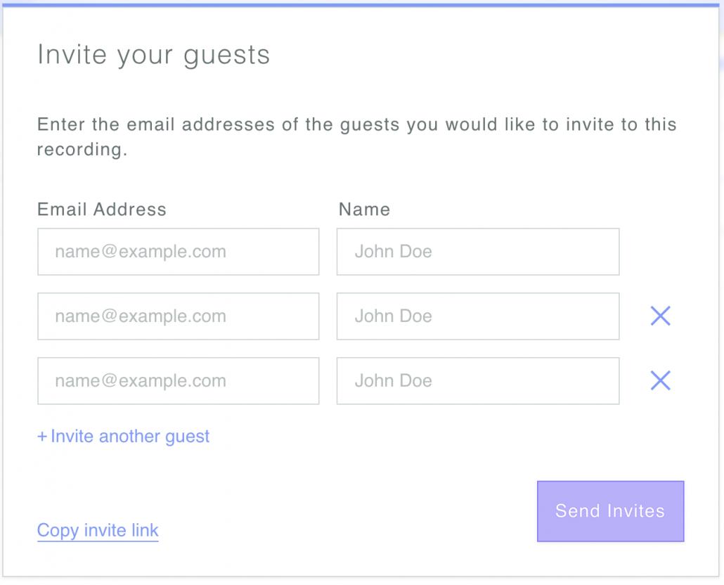 Inviter des gens sur Zencastr